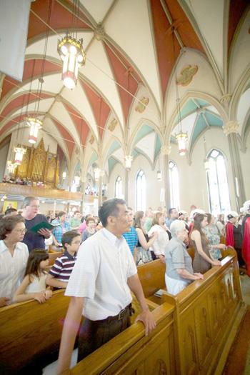 7 1 images st johns congregation - St. John the Evangelist in Syracuse celebrates final Mass