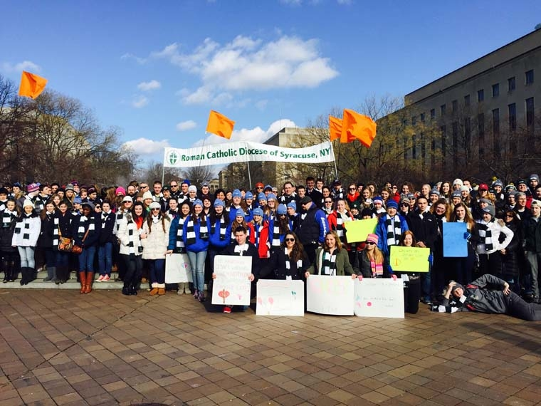 Hundreds from the diocese march for life in D.C.