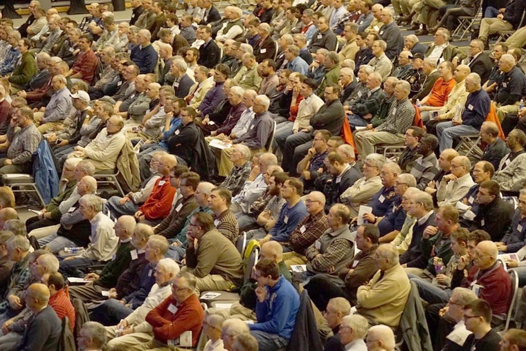 900 strong, men 'rise up' and are 'sent' at conference
