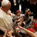 k2 items src 02d2dd956176ea8899f4b086fbef968f 1 150x150 - After offering instruction, pope gives first Communion to 245 children
