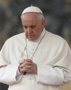 20140319to0166 1 235x300 - Pope prays as he begins general audience in St. Peter's Square at Vatican
