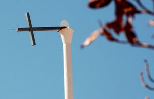 20150824cnsto0007 1 300x194 - Cross hangs on New Orleans' church steeple after Hurricane Katrina