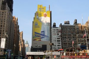 20150904cnsbr0433 1 300x200 - Large mural of Pope Francis seen in New York City