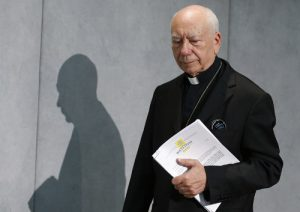 20150908cnsbr0464 1 300x212 - Cardinal Coccopalmerio arrives for press conference for release of Pope Francis' documents on marriage annulments