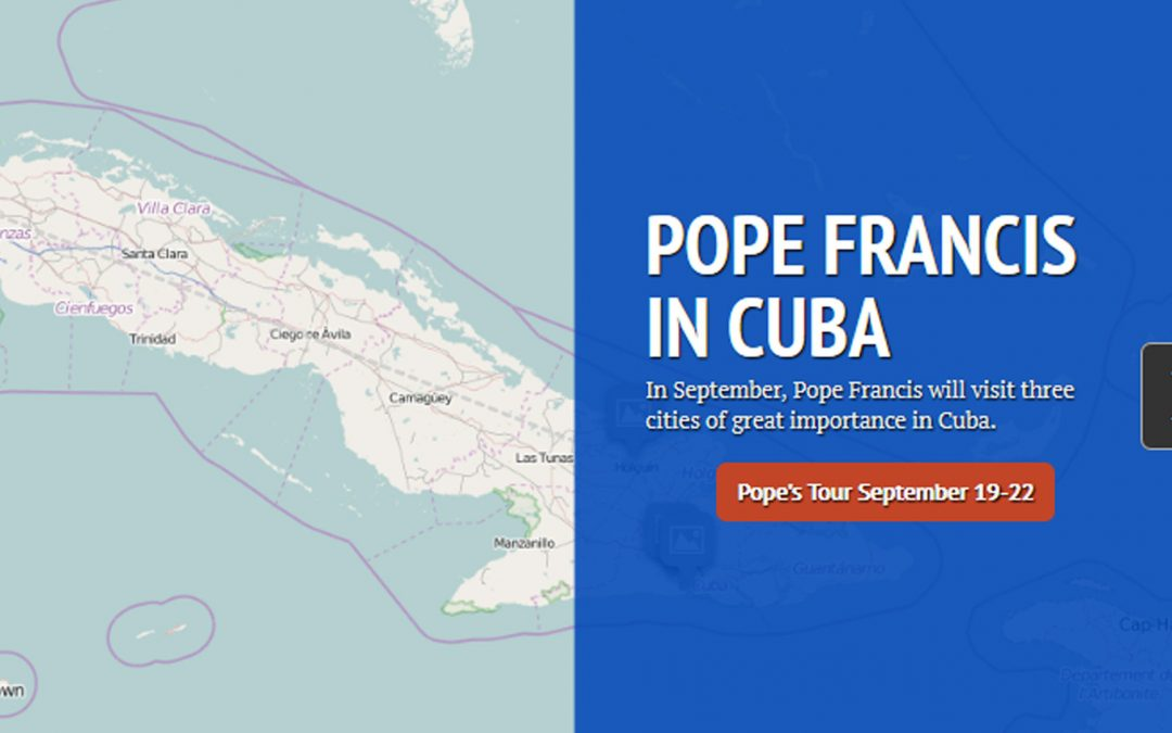 Interactive map of Pope Francis' trip to Cuba