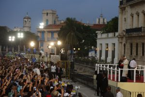 20150921cnsnw0126 1 300x200 - Pope Francis meets with young people at Father Felix Varela cultural center in Havana