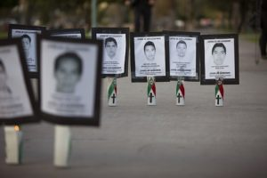 20150921cnsnw0207 1 300x200 - File photo of images of missing college students from Mexico's Guerrero state