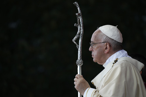Pope meets with clergy abuse victims, says crimes can't be secret