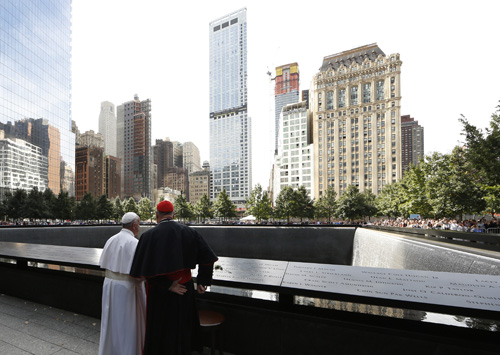 Pope at 9/11 Memorial: Violence is never impersonal, always brings tears