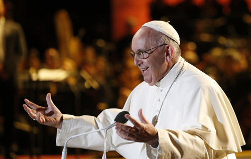 What is Pope Francis' schedule for Sunday, Sept. 27?