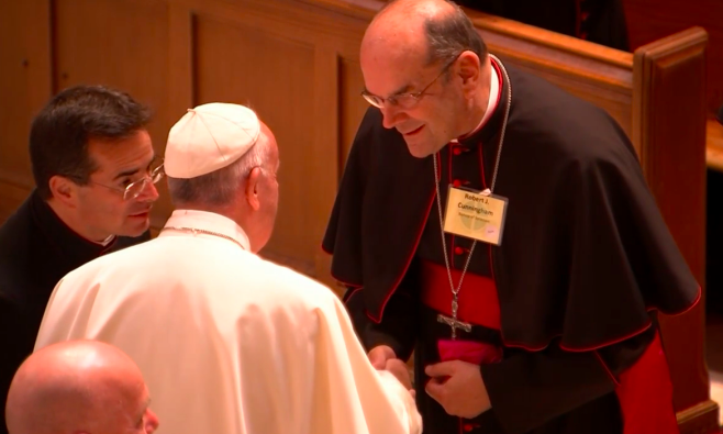 Bishop Cunningham meets Pope Francis