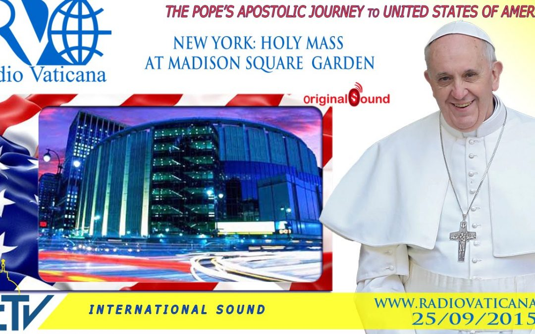 Watch live: Pope Francis celebrates Mass at MSG