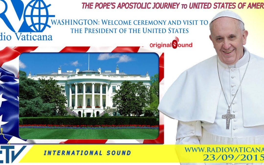 Watch live: Pope Francis is welcomed at the White House