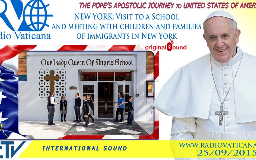 Watch live: Pope Francis visits Catholic school in Harlem
