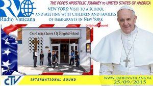watch live pope francis visits c 1 300x169 - Watch live: Pope Francis visits Catholic school in Harlem