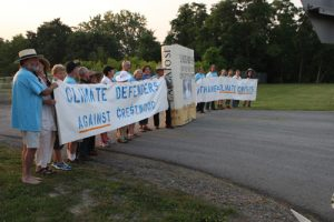 20150930cnsbr0812 1 300x200 - Line of protesters blocks main gate at Crestwood Midstream Partners gas storage facility in New York