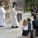 Holy Family Rosary Procession 1 150x150 - Holy Family School group spreads cheer at shelter in Syracuse