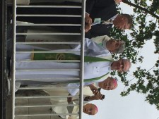 Father Tim Taugher was among priests concelebrating Mass with Pope Francis Sept. 27.