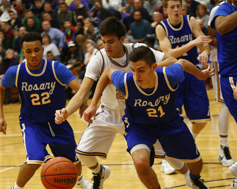 Rosary tops Assumption in 'throwback' basketball game