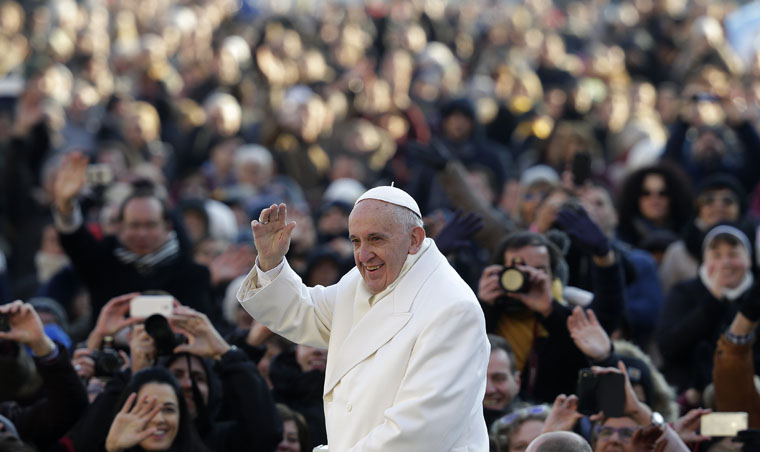 Pope Francis in 2016: On the move  and moving  ahead