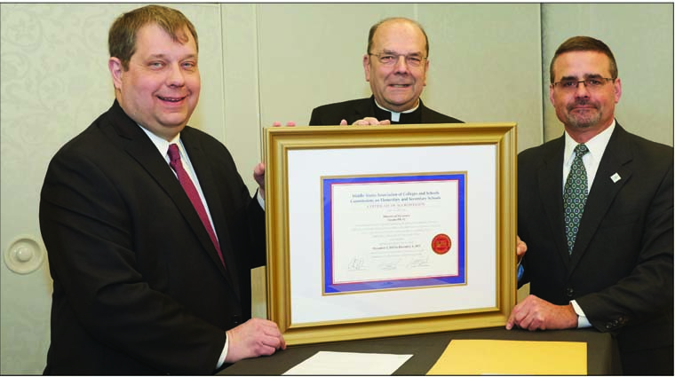 Diocesan schools, system receive  Middle States Certificates of Accreditation