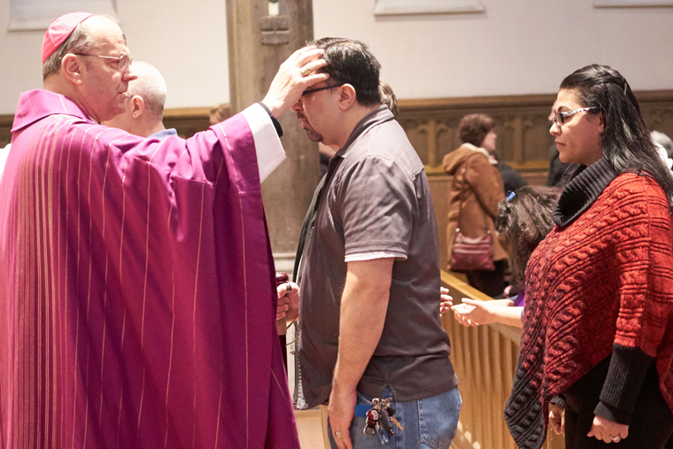 Ash Wednesday celebrated at Cathedral