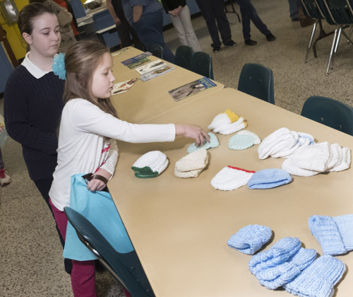 St. Pat's students welcome wee ones on day of service