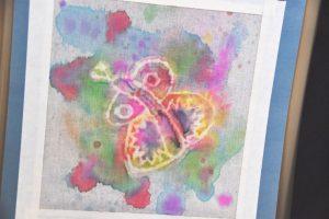 DSC 0343 300x200 - Delia Adams' batik butterfly.
