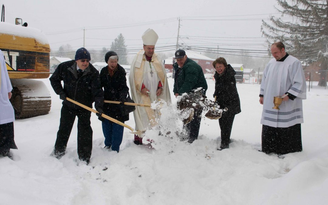 Ground blessed, broken for new church for Divine Mercy Parish