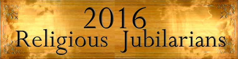 2016 Religious Jubilarians