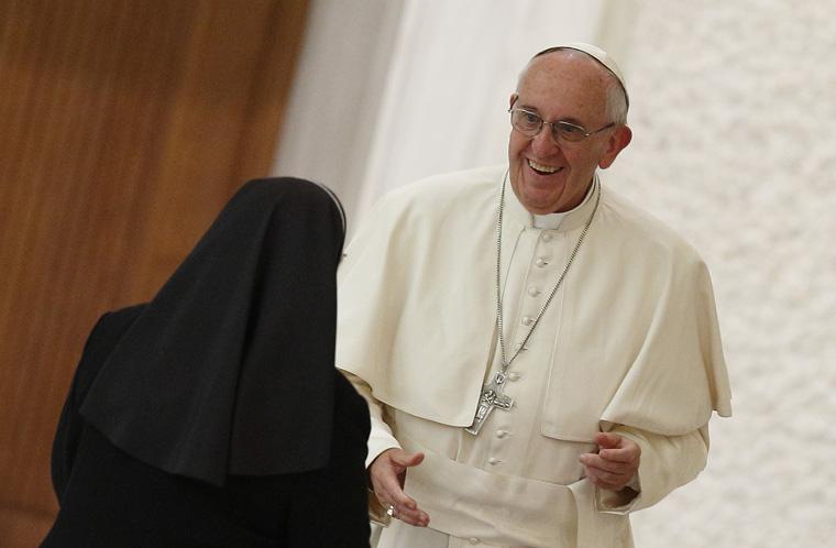Pope tells women religious Vatican will study women deacons