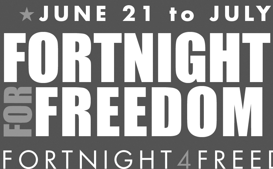 'Witnesses to Freedom' theme of church's  fortnight for religious liberty