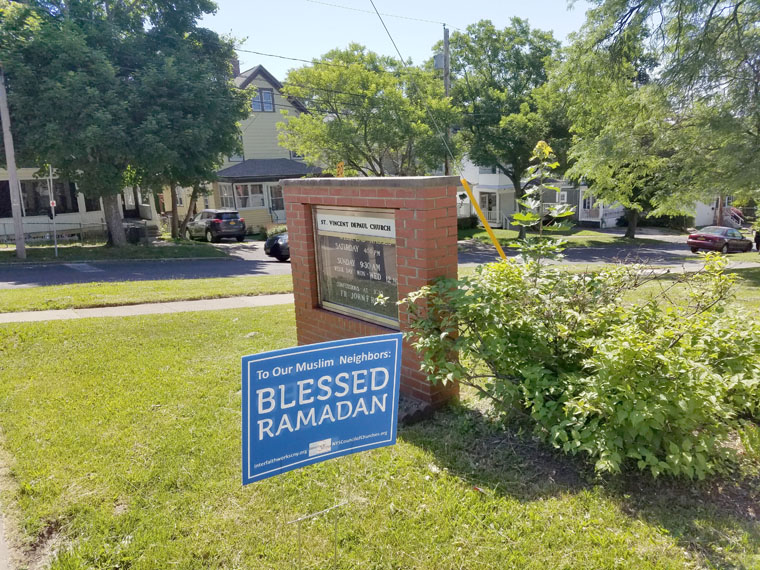 Lawn signs show support during Ramadan