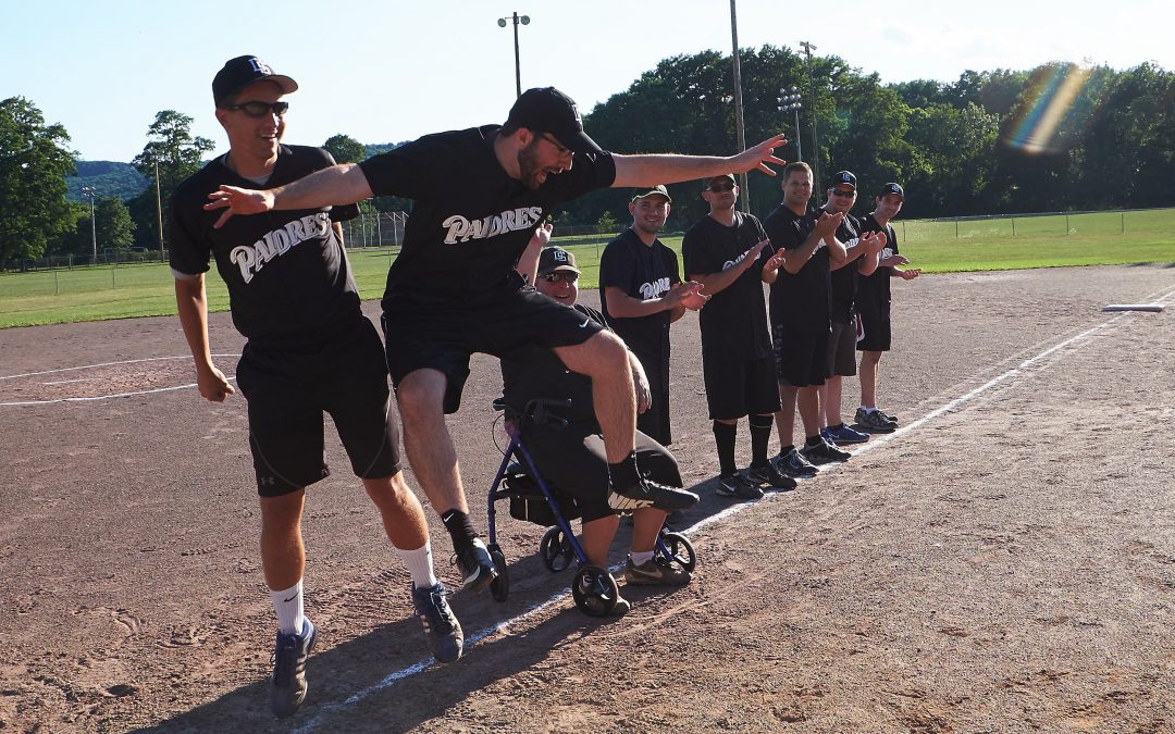 Chargers defeat Padres in annual softball game