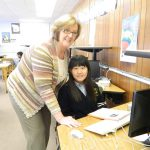 International student with Sr. Jackie 1 150x150 - Class is in session: Notre Dame teachers use digital tools to deliver distance education to students