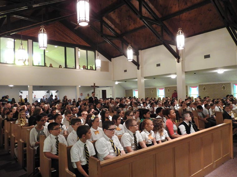 Bishop presides at  Opening School Year  Mass in New Hartford