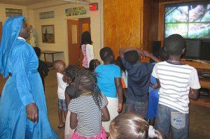VBS Sister dances 1 300x199 - Vacation Bible School dramatizes mercy, forgiveness