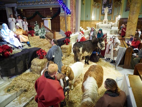Nativity comes to life at Assumption