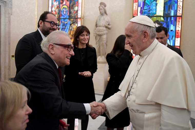 Pope meets movie director Martin Scorsese