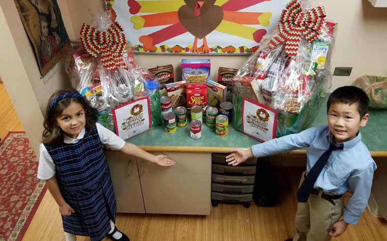 St. Mary's Academy students give thanks