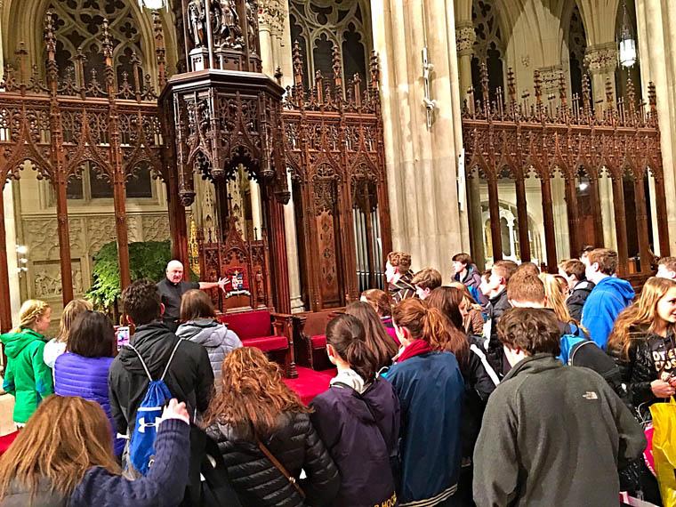 Cazenovia group visits St. Patrick's Cathedral