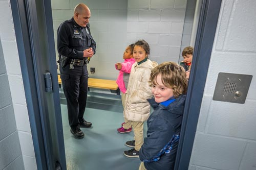 StJames catholicschoolweek 1 1 - St. James students deliver gifts to police on Day of Service