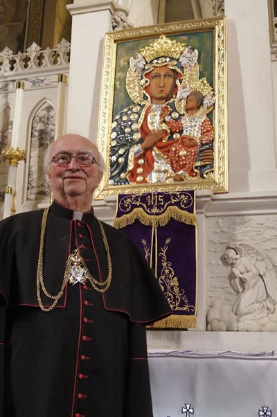 FATHER Mikalajunas and Icon 1 - Icon of Mary revered at Holy Trinity in Utica