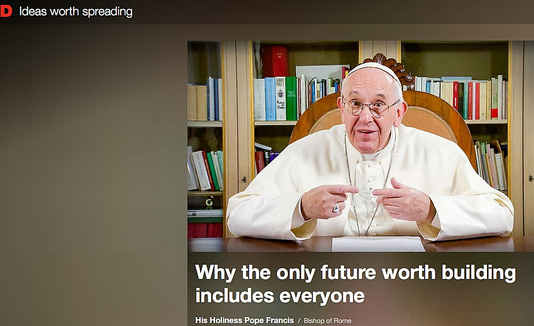 In TED talk, pope urges people to make real connections