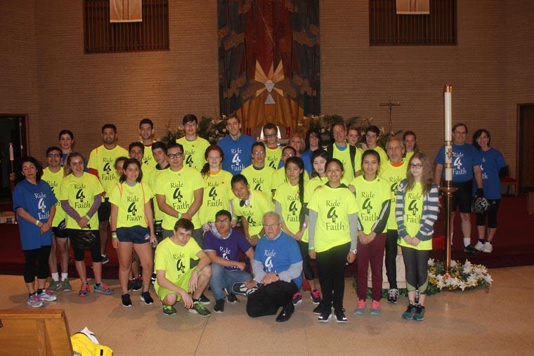 Students Ride4Faith in Utica