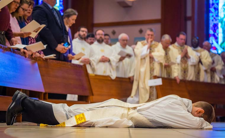 prostrate LyonsOrdination 4966 1 - Father Matthew Lyons ordained as 'one who serves'