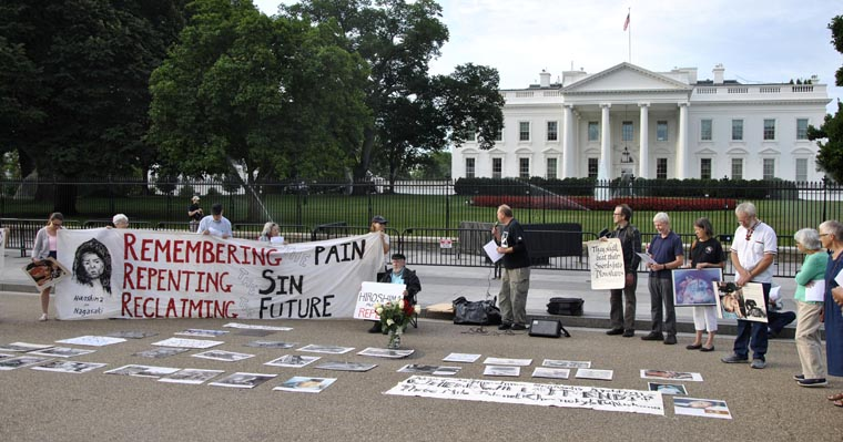 Peacemakers at White House vigil urge U.S. to empty its nuclear arsenal