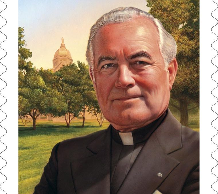 Stamp honors Father Hesburgh, former University of Notre Dame president
