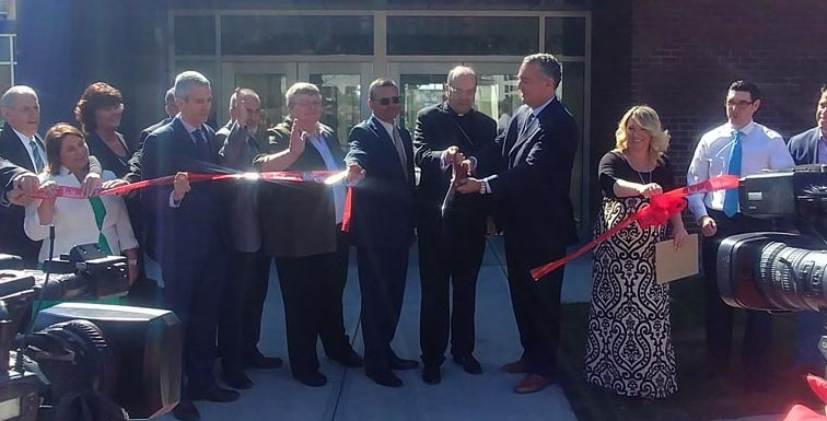 Bishop blesses new Willenburg Center at Notre Dame Schools