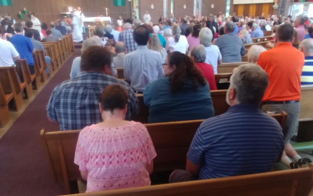 Our Lady of Lourdes jammed for final Mass